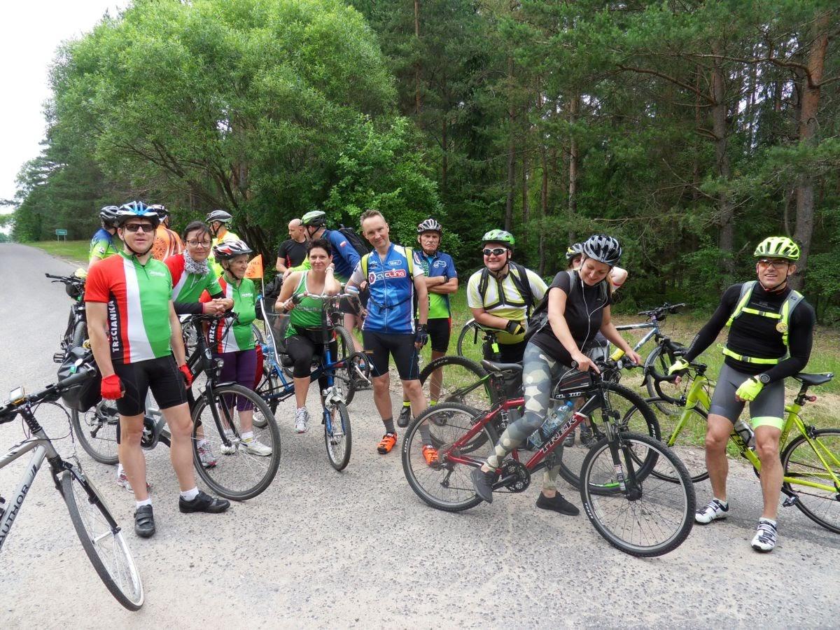 Rowerzyści z trasy na 100km